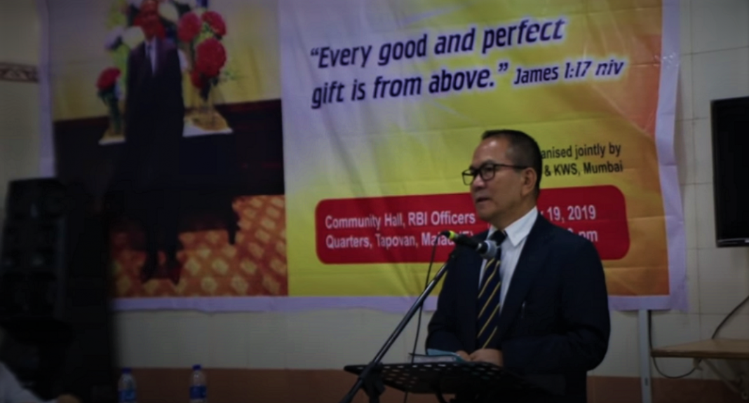 Meet D.P. Haokip, Chief Income Tax Commissioner, who misused his power and office to promote Christianity Pic Credit: YouTube