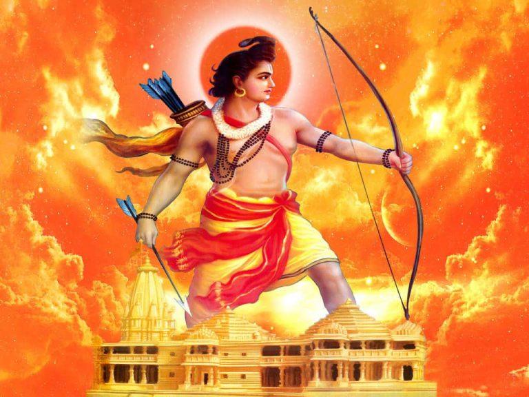 रामः न अयम् अस्माकं हृदयम्, प्रणेभ्यः मम सन्ति प्रियम् ! राम नहीं यह हृदय हमारे, प्राणों से हमको हैं प्यारे !