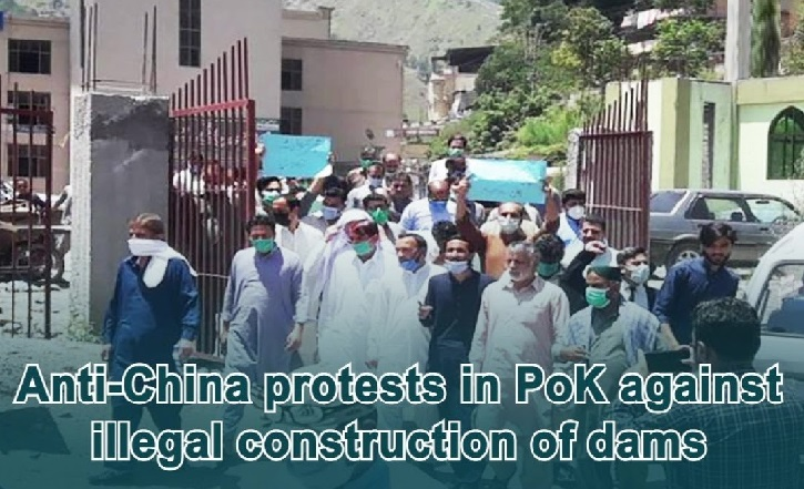 Massive Anti-China protests erupted in PoK against illegal construction of dams
