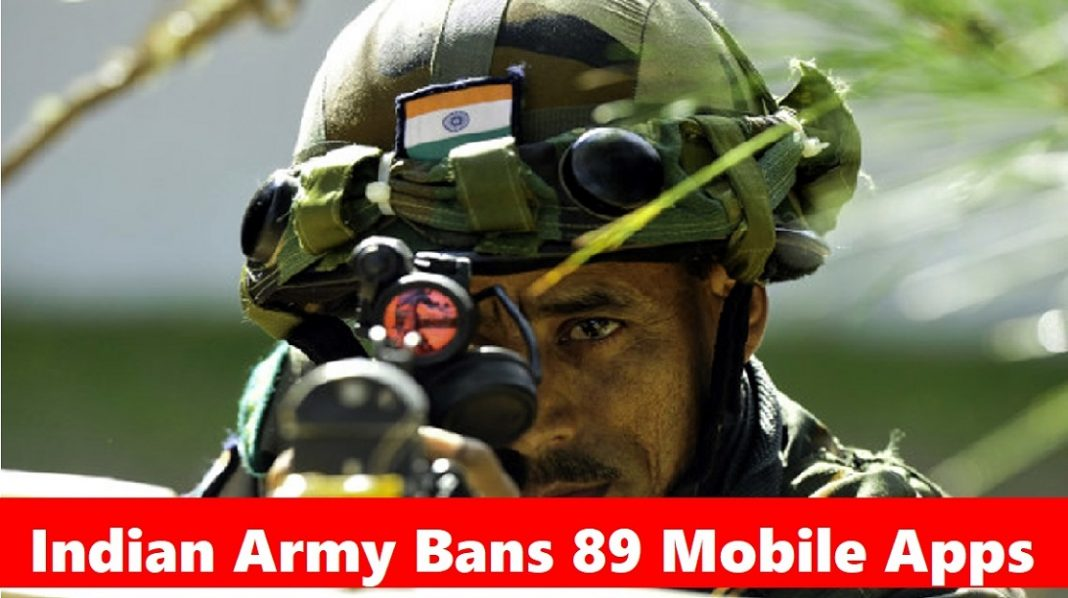 Indian Army's BIG 'Digital Strike' on China, bans 89 Apps for Defence Personnel