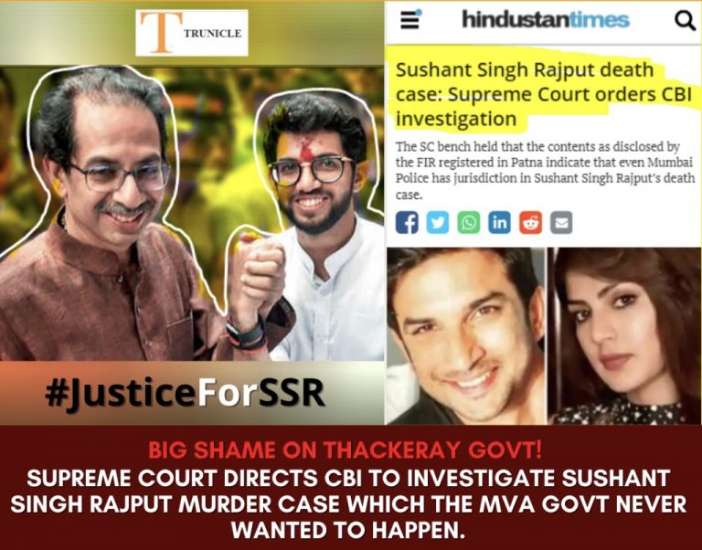 Why are common citizens celebrating after SC slammed Thackeray govt and ordered CBI to investigate the Sushant Singh Rajput's death? Here are 5 reasons