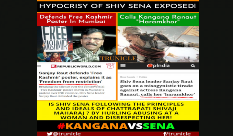 Did Kangna insult Mumbai or she only exposed Bollywood mafia and hypocrisy of Political parties backing it ?
