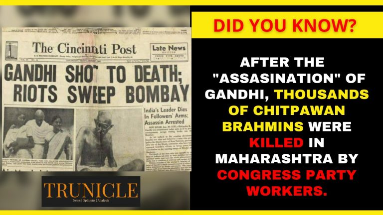 The untold story of Maharashtrian Brahmin genocide committed by Congress after Gandhi's assassination in 1948