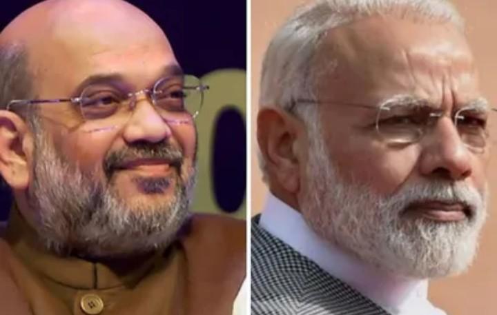 सार्वजनिक जीवने प्रधानमंत्री: नरेंद्र मोदिस्य विंशति वर्षम्, अमित शाहः अददात् शुभाशयः ! सार्वजनिक जीवन में प्रधानमंत्री नरेंद्र मोदी के  20 साल, अमित शाह ने दी बधाई !