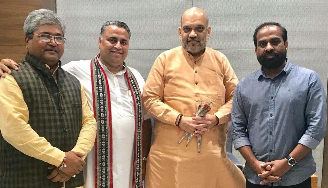 Amit Shah With Sunil Deodhar