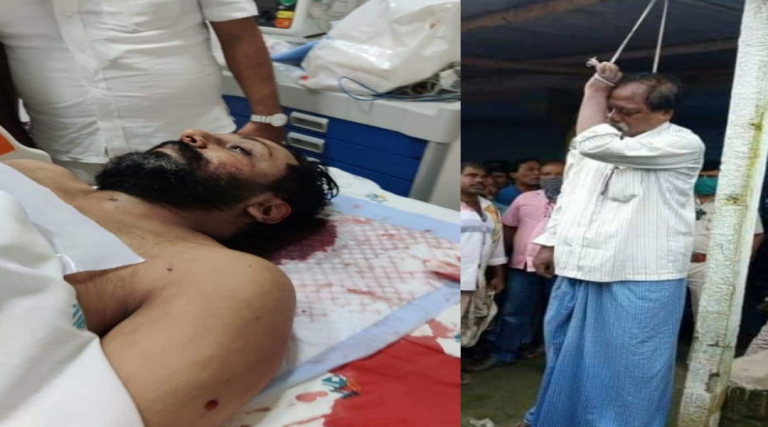 While building  fake narrative continues against  BJP ruled States, there is as usual dead silence over the murder of democracy in West Bengal.