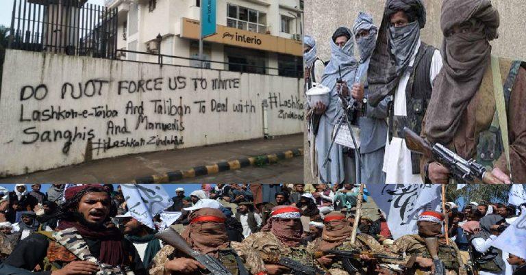 """Muslims will invite Lashkar-e-Toiba & Taliban to deal with Hindus"", says a provocative graffiti in Mangalore"