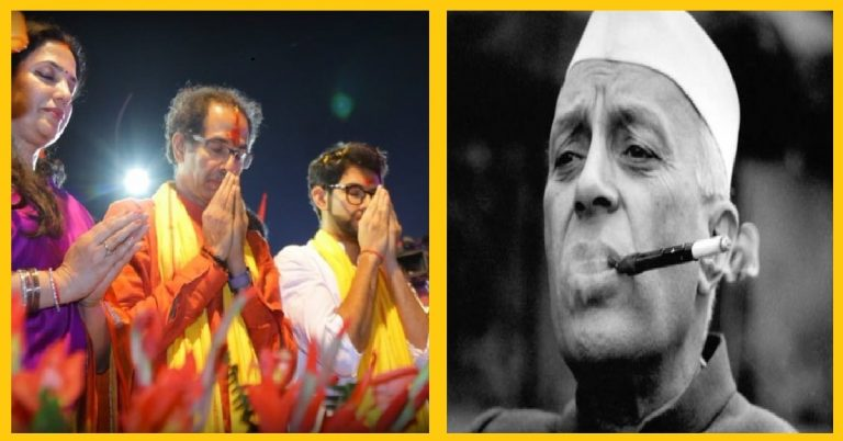 Thackeray Government becomes 'Pro Nehruvian' to prove its Secularism to Gandhi Family