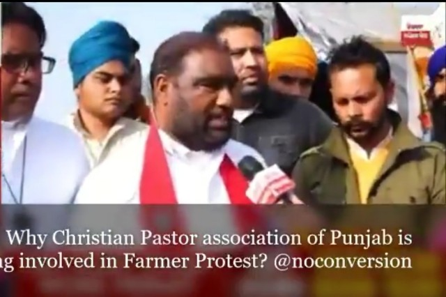Really !! Now Christian Pastor Association is getting involved in Farmers Protest