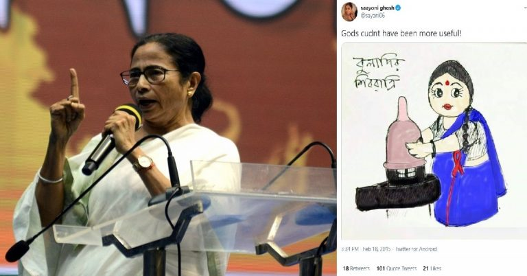 Mamata Banerjee fields an actress who insulted Hindu gods; Isn't it the time for Hindus to demolish these anti-Hindu creatures?