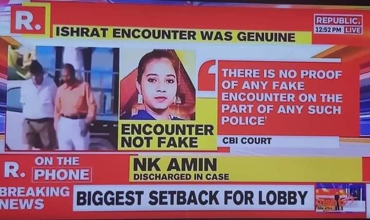 Approved by Indian Court:  Her name was Ishrat  Jahan and she was a terrorist