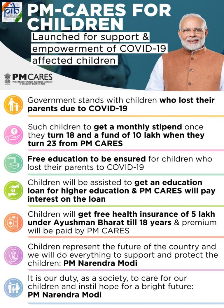 PM CARES FOR CHILDREN: SOCIAL SECURITY IN TIMES OF SOCIAL CRISES, AN ASSURANCE TO THE FUTURE OF OUR COUNTRY