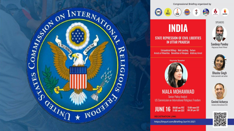 International Global Toolkit launched by USCIRF in collusion with IMAC to dislodge MYogiAdityanath Government in Uttar Pradesh