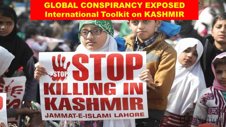Global Toolkit on Kashmir set to discredit Nationalist Government in India Exposed.