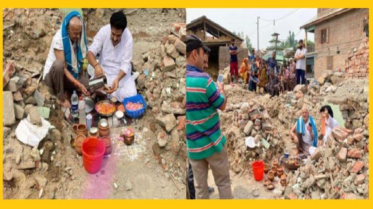 Kaka Ji Butt starts building his home; laid 'Foundation Stone' of return of Kashmiri Pandits in Jammu & Kashmir